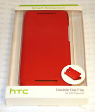 Original HTC DOBLE DIP FLIP ONE MINI HC V851 Funda Bolso Rojo 99h11286-00