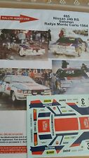 DECALS 1/24 REF 695 NISSAN 240 RS SALONEN RALLYE MONTE CARLO 1984 RALLY WRC