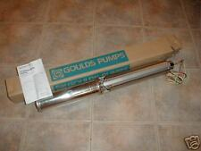 New GOULDS 1/2 HP 10 GPM 3 WIRE BRASS  WATER  WELL PUMP