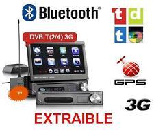 RADIO DVD UNIVERSAL 1 DIN, CARATULA EXTRAIBLE, 3G, GPS, TDT EXTERNO INCLUIDO