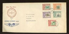 NORTH BORNEO 1961 PICTORIALS 1c to 10c .Labuan FDC..ILLUSTRATED BORNEO AIRWAYS