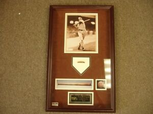 Ted Williams Game Limited Edition Game Used Bat Piece in Shadowbox PSA/DNA