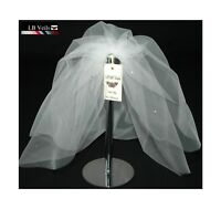 Bouffant Veil Crystal Wedding Any Length Or Colour Short Long LBV154 LBVeils UK