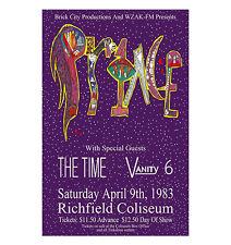 Prince 1983 Cleveland Concert Poster
