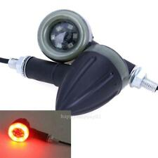2pcs Universal Motorcycle LED Amber Lamp Rear Turn Signal Brake Light Indicator