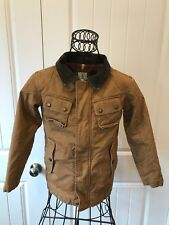 Lands End KIDS BOYS Insulated Tan Barn Jacket Size Small
