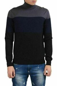 Prada Men's 100% Wool Turtleneck Multi-Color Sweater US M IT 50