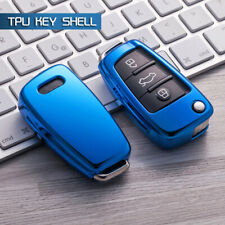 Blue Soft Protective key Case Shell Cover for Audi A1 A3 A4 S3 S4 Q3 Q5 Q7