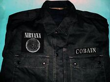 Nirvana Bleach Vestibule Circles Of Hell Black Camouflage Army Shirt Jacket