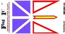 NEWFOUNDLAND FLAG LAMINATED CAR SELF ADHESIVE VINYL DECAL STICKER NEW