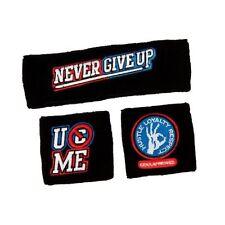 WWE John Cena U CAN'T C ME Wristbands Never Give Up Headband Set BRAND NEW!!