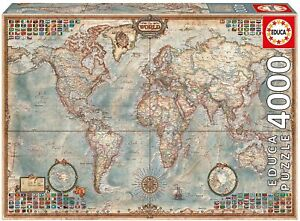 Educa The World Map: 4000 Piece Puzzle - Ages 12+