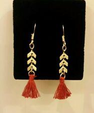 Accessorize Gold Tassel Arrow Drop Earrings
