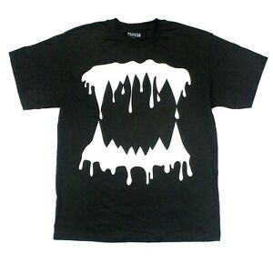 Rihanna Monster White Logo 2014 Itinerary Tee Trapstar T-Shirt - Black - L