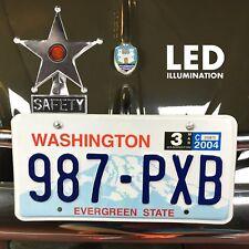 Safety Star Chromed License Plate Topper Yellow LED Illumination fits split oval