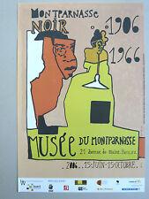 ALBEROLA Jean-Michel Affiche originale PARIS MONTPARNASSE NOIR 1906-1966 Art