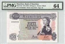 Mauritius ND (1967) P-33c PMG Choice UNC 64 50 Rupees
