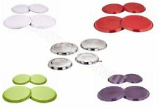 4 PCS HOB COVER SET REUSEABLE HOME ELECTRIC COOKER OVEN RING PROTECTOR METAL LID