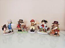 Vtg Lot of 5 Franklin Mint Porcelain Figurines,By Debbie Bell Jarratt,1984-1985