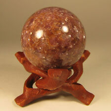 39mm Purple LEPIDOLITE Lithium Mica Crystal Sphere w/ Stand - Mozambique, Africa