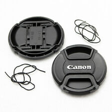2X 58mm Front Lens Cap For Canon DSLR Lens Center-Pinch Snap-On With Cord NEW
