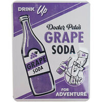 Walt Disney World Store Land Parks Docter Pete's Grape Soda Tin Magnet Pixar Up