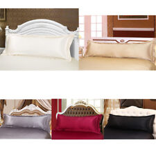 Multicolor Luxury Silk Pillowcase Silk Body Full Long Pillow Case   Cover
