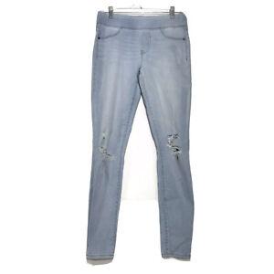 Old Navy RockStar Pull On Jeans Womens Sz 4 Skinny Distressed Light Blue Wash