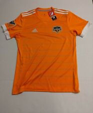 Houston Dynamo Adidas Climacool Orange Training Shirt Mens Size M