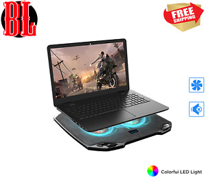 Laptop Cooling Stand with 2 Quiet Big Fans LED  RGB 7Colors Cooling Fans USB