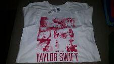 "Taylor Swift ""White Squares"" T-Shirt M Medium 100% Pre-Shrunk Cotton"