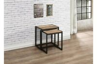 Birlea - Urban Nest of Tables 2 Tables - Metal Frame - Wood Effect - Flat Packed