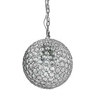Decor Living 1-Light Chrome and Crystal Pendant P5060-CHR