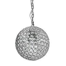 Decor Living 1-Light Chrome and Crystal Pendant P5060-CHR