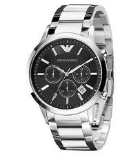 Original Emporio Armani AR2434  NEU OVP Herrenuhr Watch Silber Chronograph