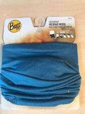 Buff Lightweight Merino Wool Schlauchtuch - Solid Lake Blue