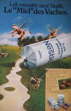 PUBLICITÉ 1978 - NESTLÉ LAIT CONCENTRÉ SUCRÉ MIEL DES VACHES - ADVERTISING