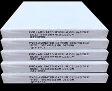 10m2 Suspended Ceiling Vinyl Wipeable 595x595 EasyClean 600x600mm 30 Tiles Pack