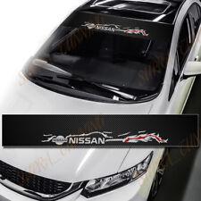 For Nissan DIY Car Window Windshield Carbon Fiber Vinyl Banner Decal Sticker