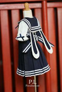 1/3SD13 SD10 BJD Clothes School Uniform Upper Garment & Skirt & Hat Student Suit