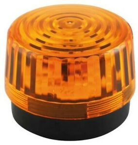 WARNING FLASHER LED 12V 100MM AMBER Automation Signaling HAA100AN PACK 1