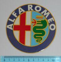 ADESIVO STICKER VINTAGE AUTOCOLLANT ORIGINALE ANNI'80 ALFA ROMEO 10x10 cm RARO