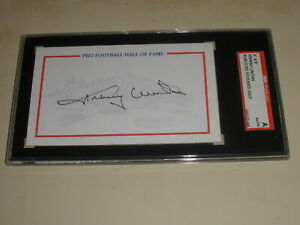 Johnny Unitas 3 X 5 Pro Football Hall Of Fame Index Card Auto BALTIMORE COLTS
