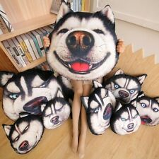 Cute Husky Dog Plush Toys Cute Expression Pillow Stuffed Soft Pillow Home Gift