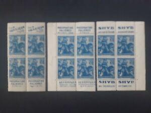 3 blocs 4 timbres France bande publicitaire yt 257 neufs