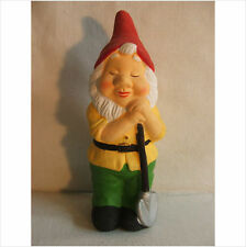LATEX MOULD MOULDS MOLD.  7.5 INCH GNOME LEANING ON  A SPADE
