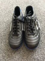 Boys Umbro Astro Trainers Black And Blue Lace Up NWT