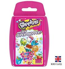 TOP TRUMPS SHOPKINS SUPER SHOPPER CARD GAME Family Kids Play Christmas Gift UK