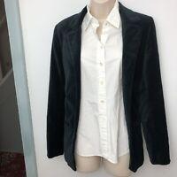 Zadig & Voltaire Deluxe Black Velvet finish Cotton Jacket Blazer. Small/Medium
