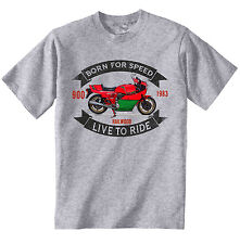 DUCATI 900 MIKE HAILWOOD - NEW COTTON GREY TSHIRT - ALL SIZES IN STOCK